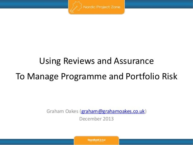 Using Reviews and Assurance to Manage Portfolio and Programme Risk