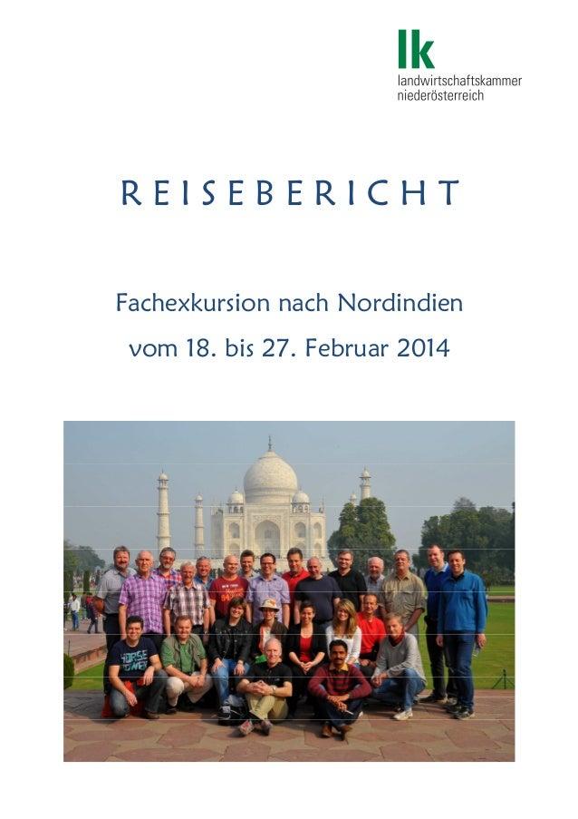 R E I S E B E R I C H T Fachexkursion nach Nordindien vom 18. bis 27. Februar 2014