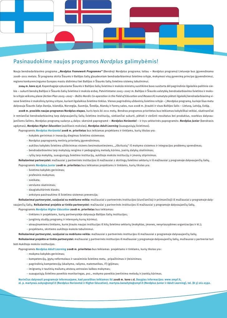 """Pasinaudokime naujos programos Nordplus galimybėmis! Nauja bendradarbiavimo programa ,,Nordplus Framework Programme"""" (Bend..."""
