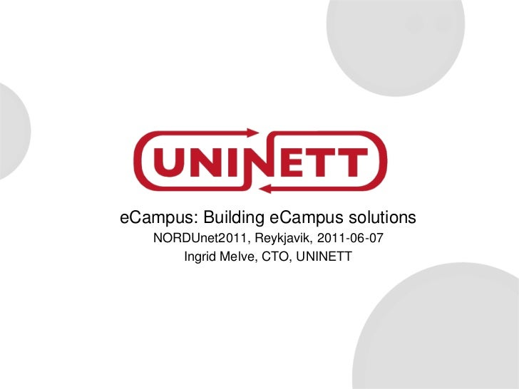 Building eCampus solutions