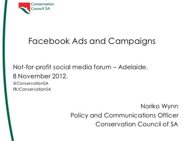 Adelaide social media forum - Conservation Council of SA