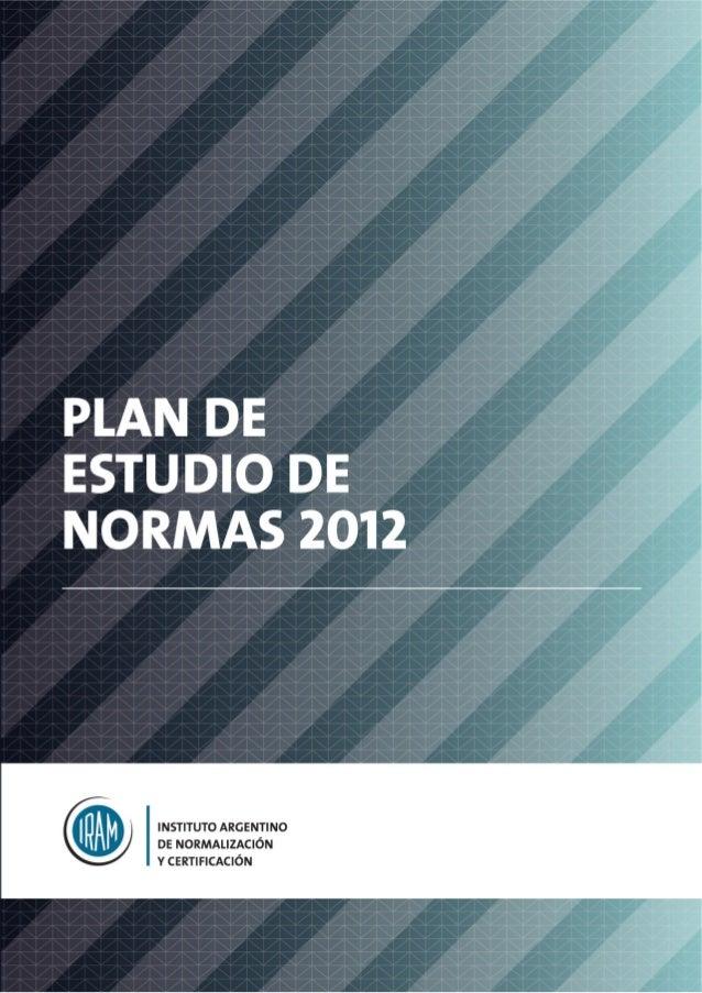 PLAN DE ESTUDIO DE NORMAS 2012