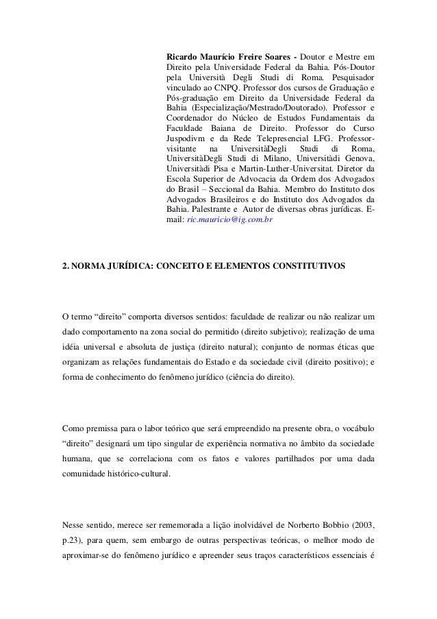 I.E.D - Norma Jurídica: Conceito e Elementos Constitutivos (2)