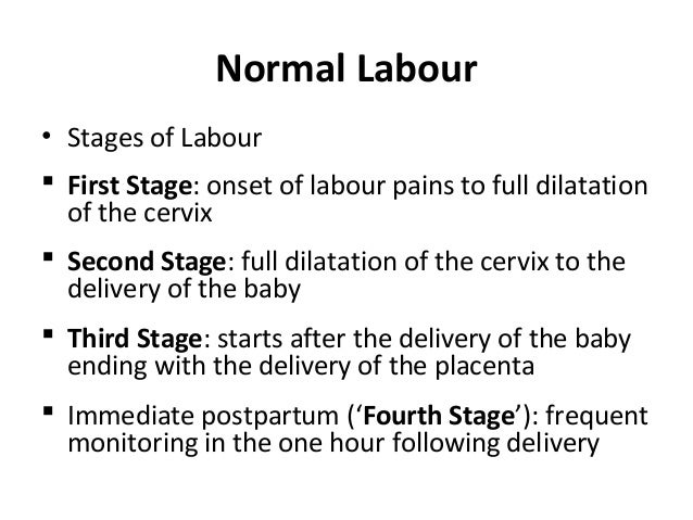 Image result for normal labour stages
