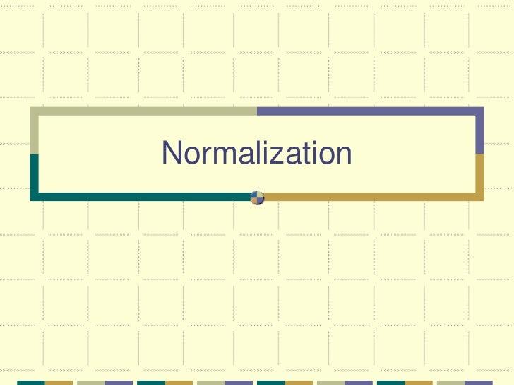 database normalization essay