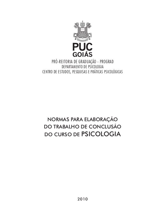 PRÓ-REITORIA DE GRADUAÇÃO - PROGRAD            DEPARTAMENTO DE PSICOLOGIACENTRO DE ESTUDOS, PESQUISAS E PRÁTICAS PSICOLÓGI...