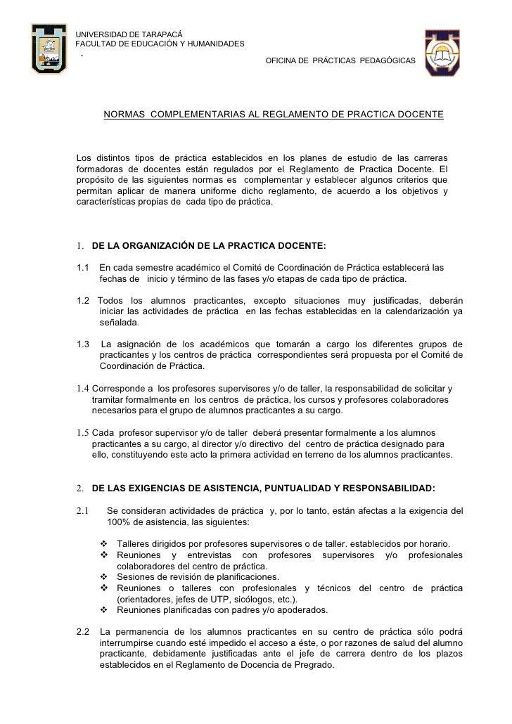 UNIVERSIDAD DE TARAPACÁ FACULTAD DE EDUCACIÓN Y HUMANIDADES                                                   OFICINA DE P...
