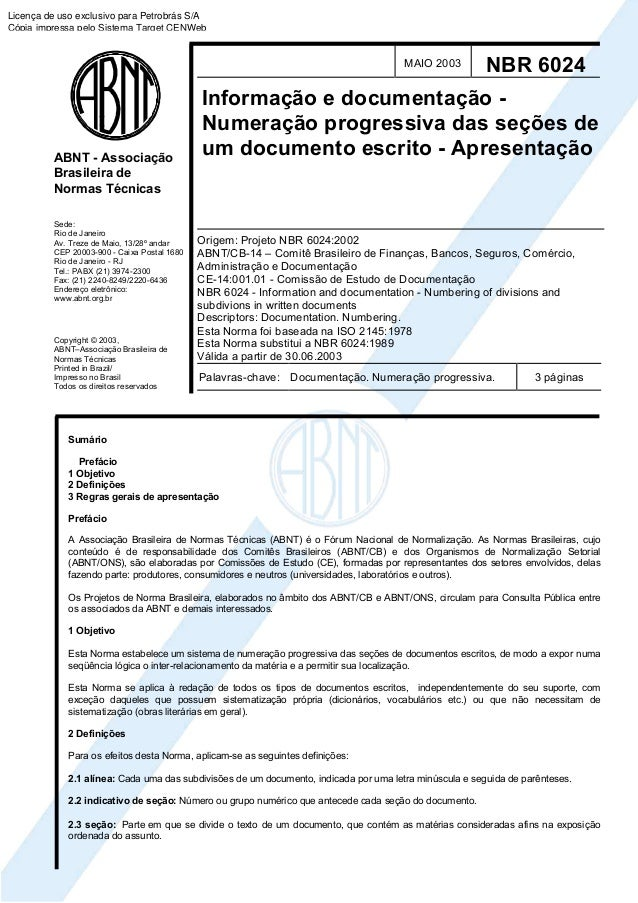 Norma ABNT 6024