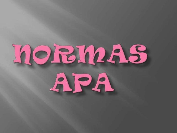 Normas     Apa<br />
