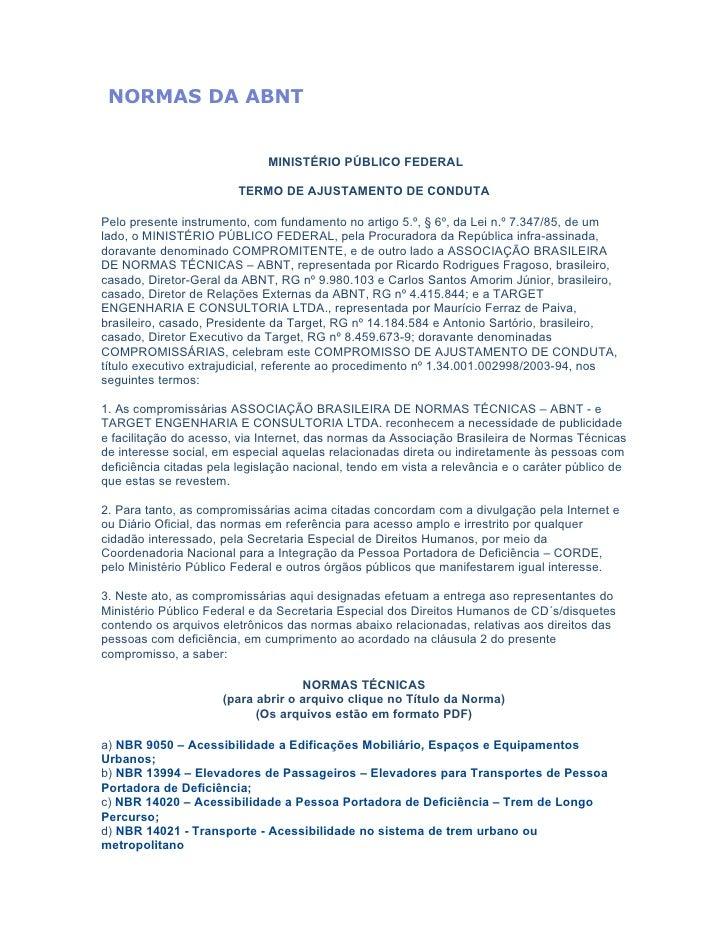 NORMAS DA ABNT (Acessibilidade)