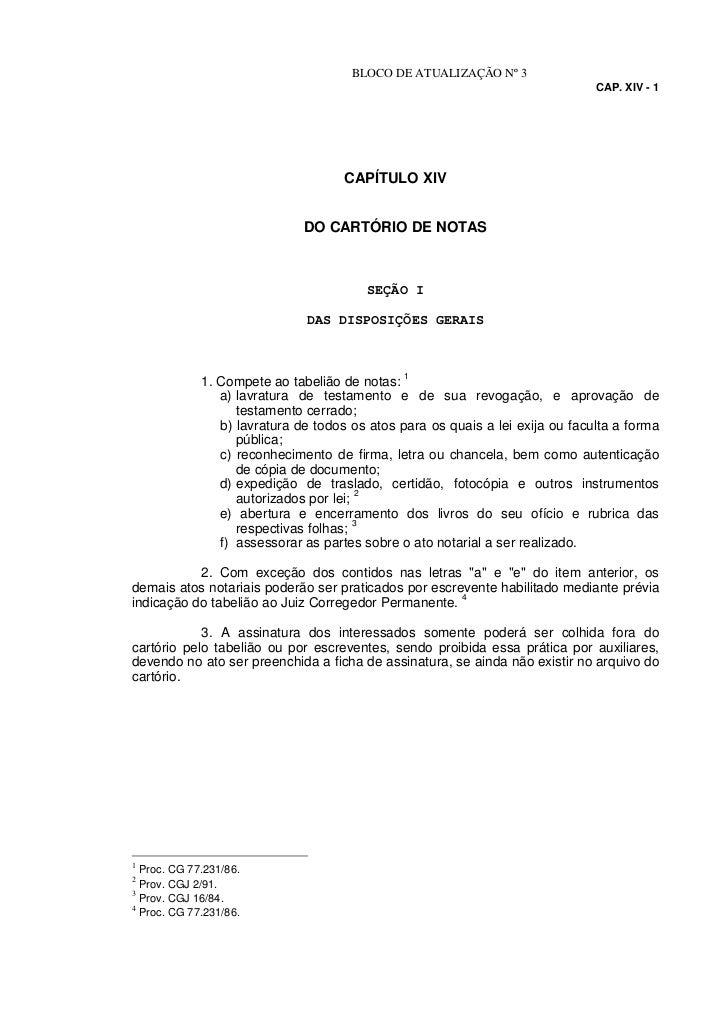 BLOCO DE ATUALIZAÇÃO Nº 3                                                                               CAP. XIV - 1      ...