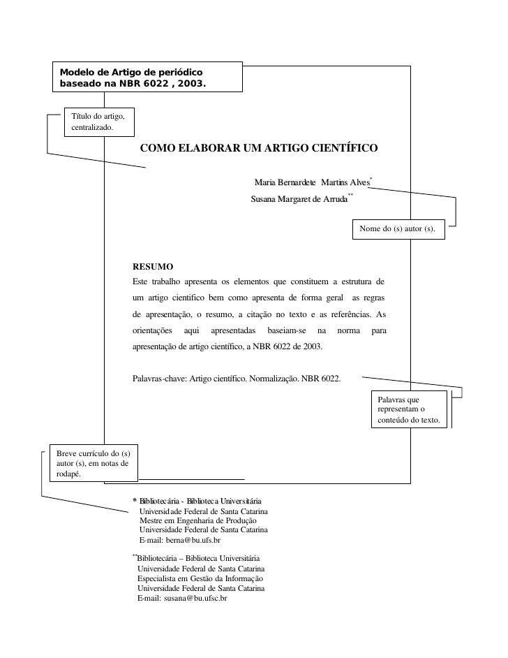 Modelo de Artigo de periódico baseado na NBR 6022 , 2003.       Título do artigo,     centralizado.                       ...