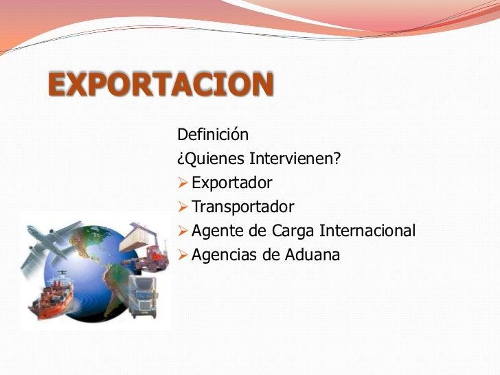 Image gallery exportacion definicion for Definicion exterior