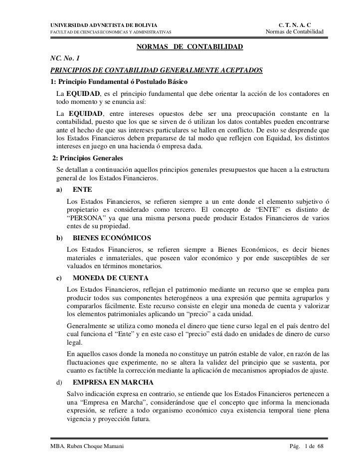 UNIVERSIDAD ADVNETISTA DE BOLIVIA                                              C. T. N. A. CFACULTAD DE CIENCIAS ECONOMICA...