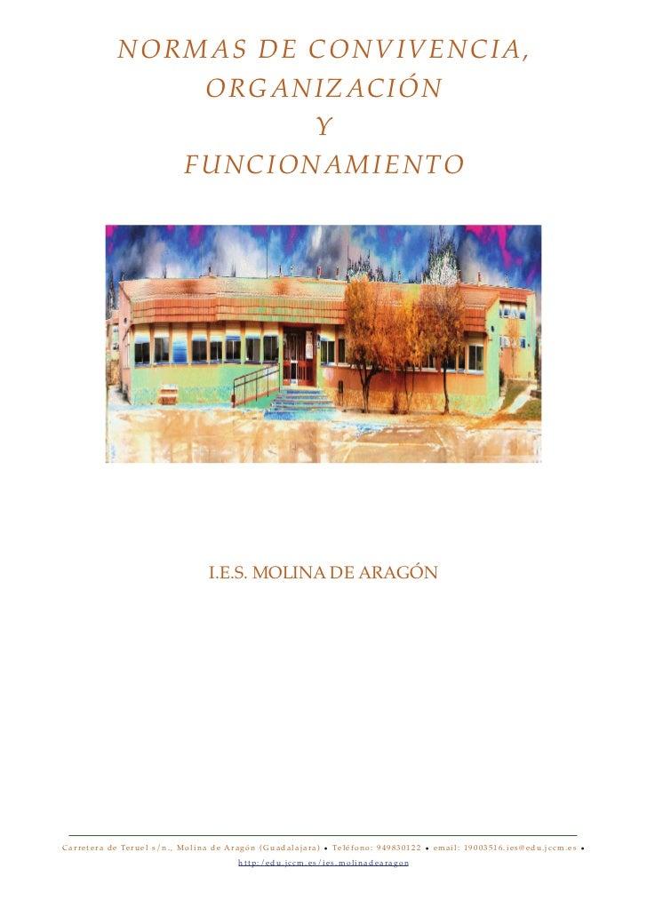 NORMAS DE CONVIVENCIA,                         ORGANIZACIÓN                                    Y                       F U...
