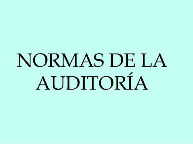 Normas de la auditoría (1)