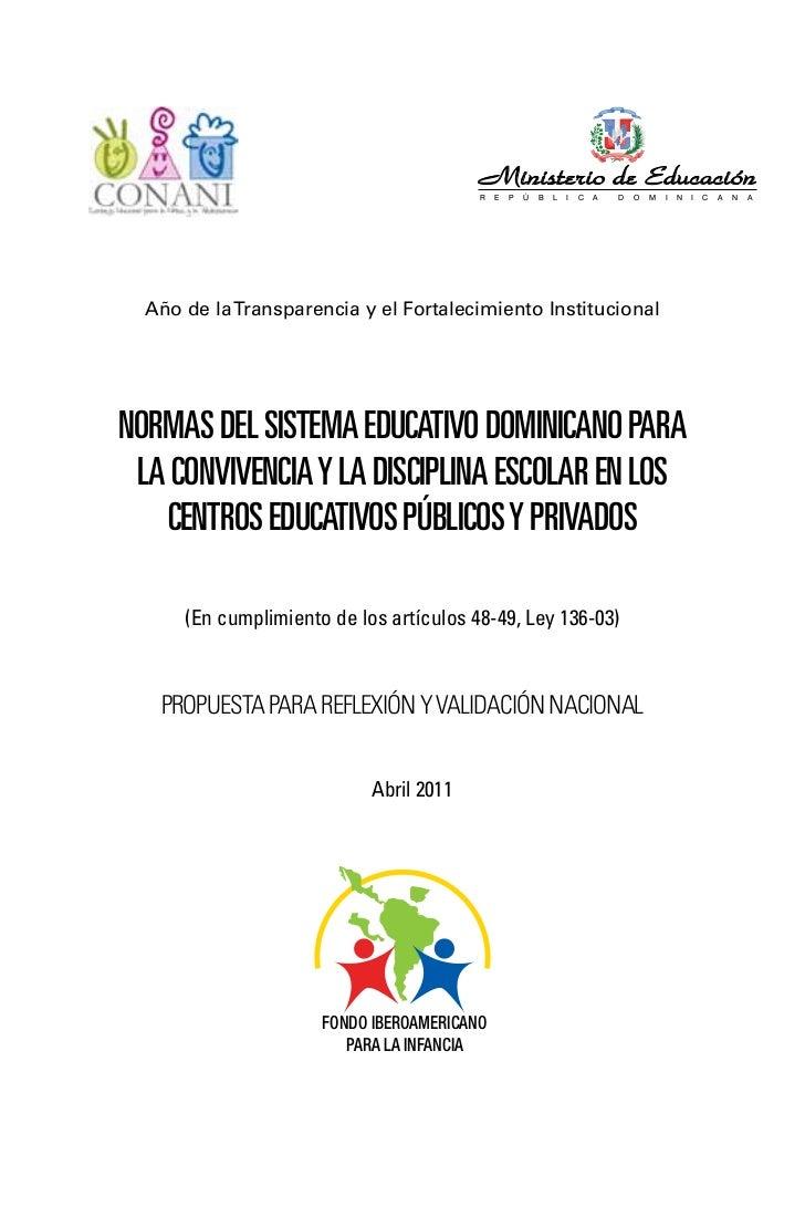 Ministerio de Educación                                         R   E   P   Ú   B   L   I   C   A   D   O   M   I   N   I ...