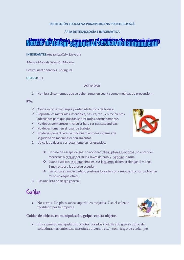 INSTITUCIÓN EDUCATIVA PANAMERICANA PUENTE BOYACÁ<br />ÁREA DE TECNOLOGÍA E INFORMÁTICA<br />INTEGRANTES: Ana  Yaritza Cely...