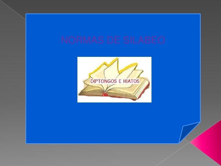 NORMAS DE SILABEO<br />