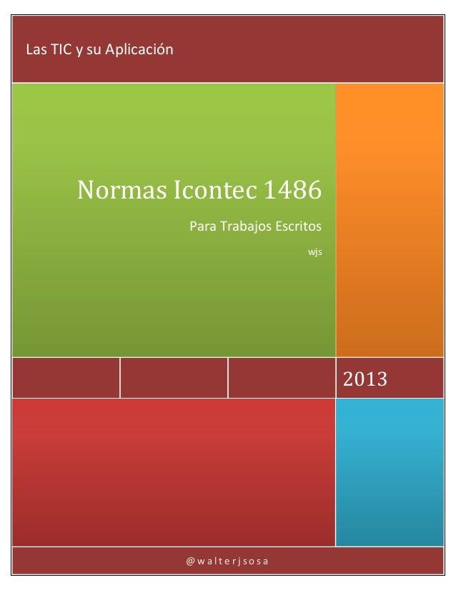 Normas Icontec 1486