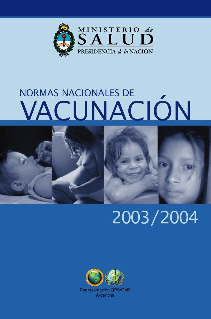 Normas Nacionales De Vacunacion