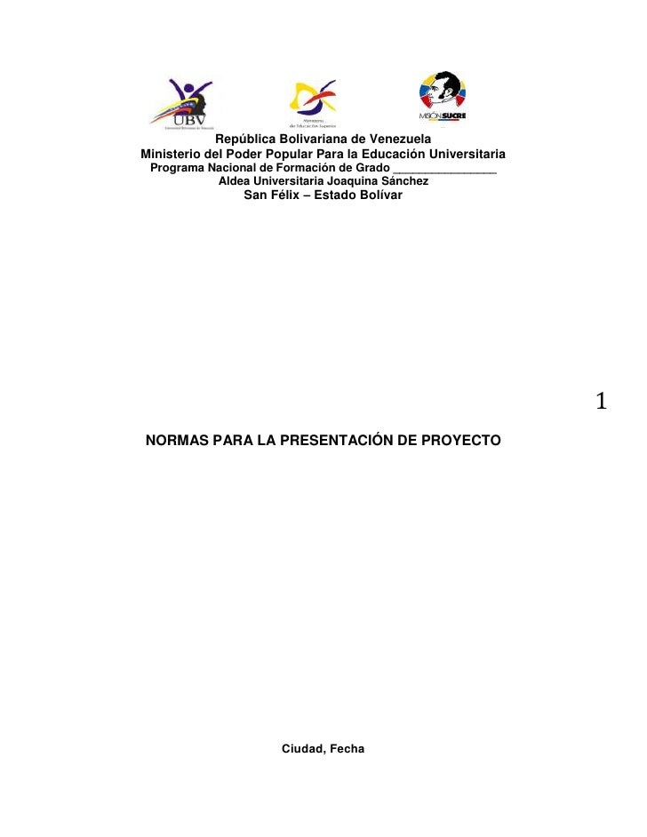 Normas para la presentación de trabajos de investigación