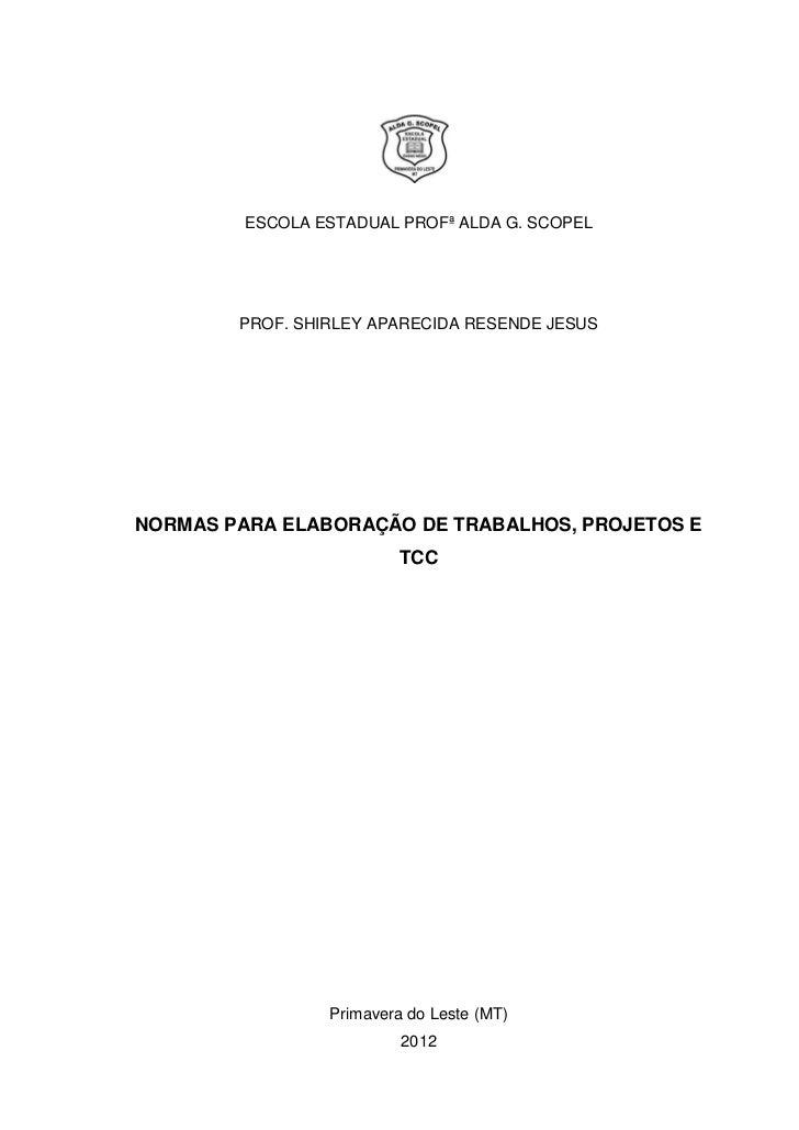 NORMAS PARA TRABALHOS E TCC
