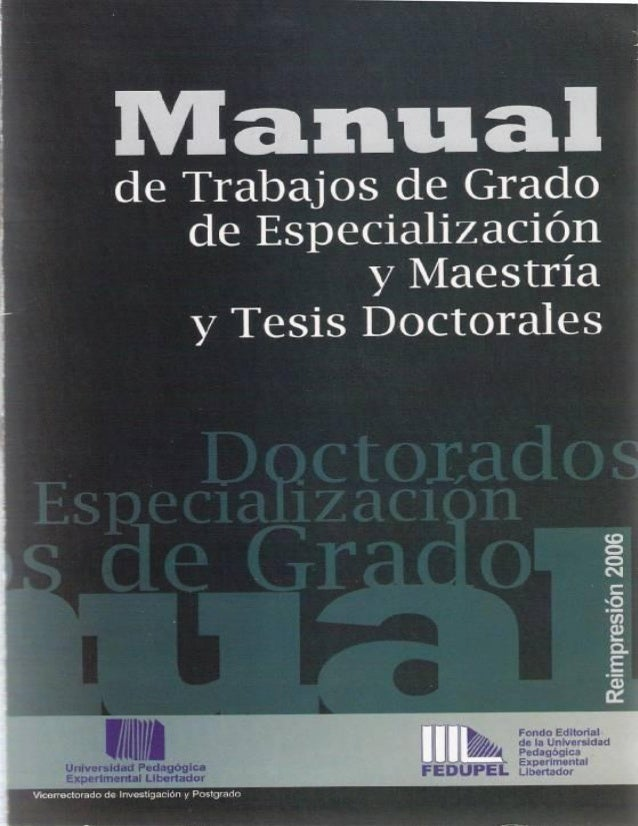Normas UPEL, Mayo 2006