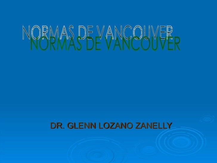 Normas Vancouver