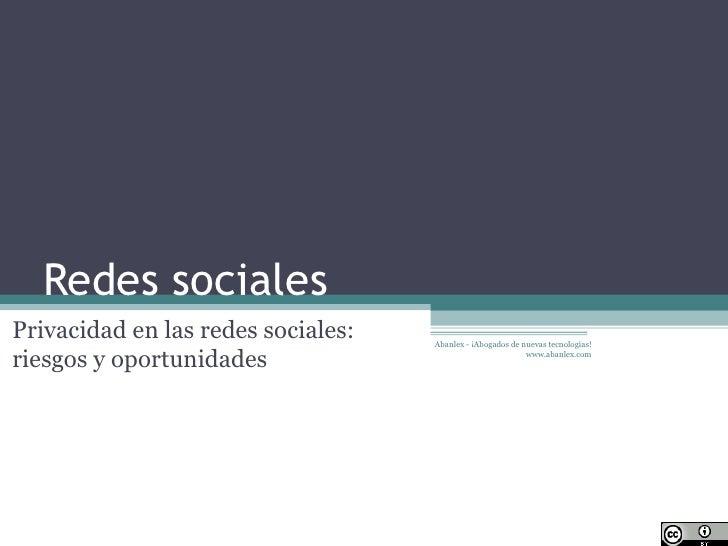 Normativa Sobre Redes Sociales