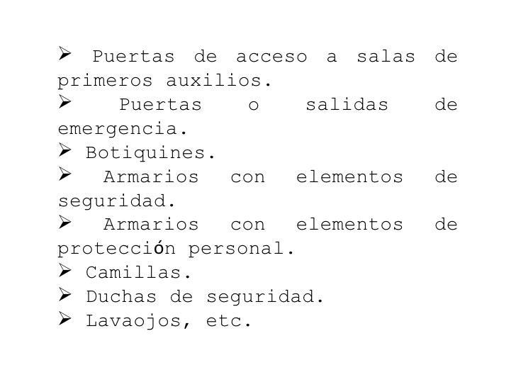 Salidas Emergencia Normativa o Salidas de Emergencia