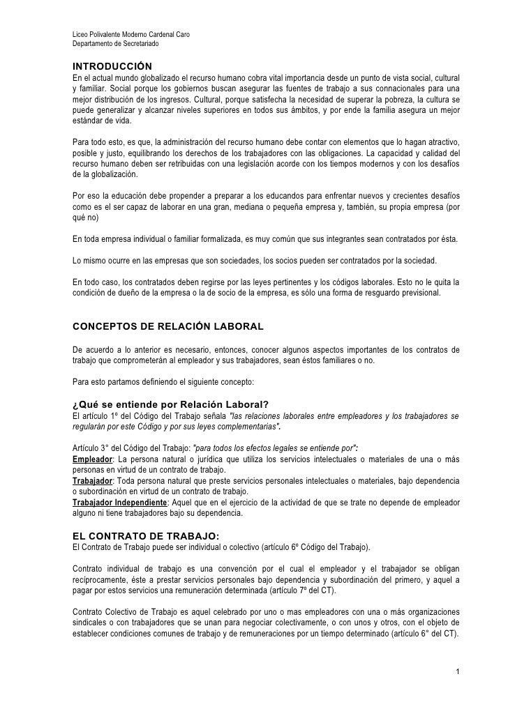 Liceo Polivalente Moderno Cardenal CaroDepartamento de SecretariadoINTRODUCCIÓNEn el actual mundo globalizado el recurso h...