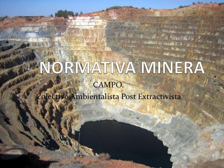 Normativa Minera