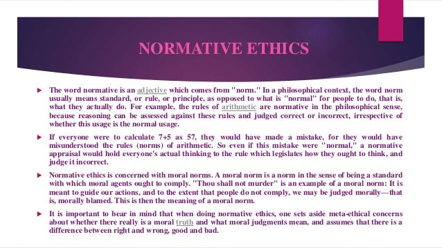 normative ethics 2 essay View normative ethics research papers on academiaedu for free.