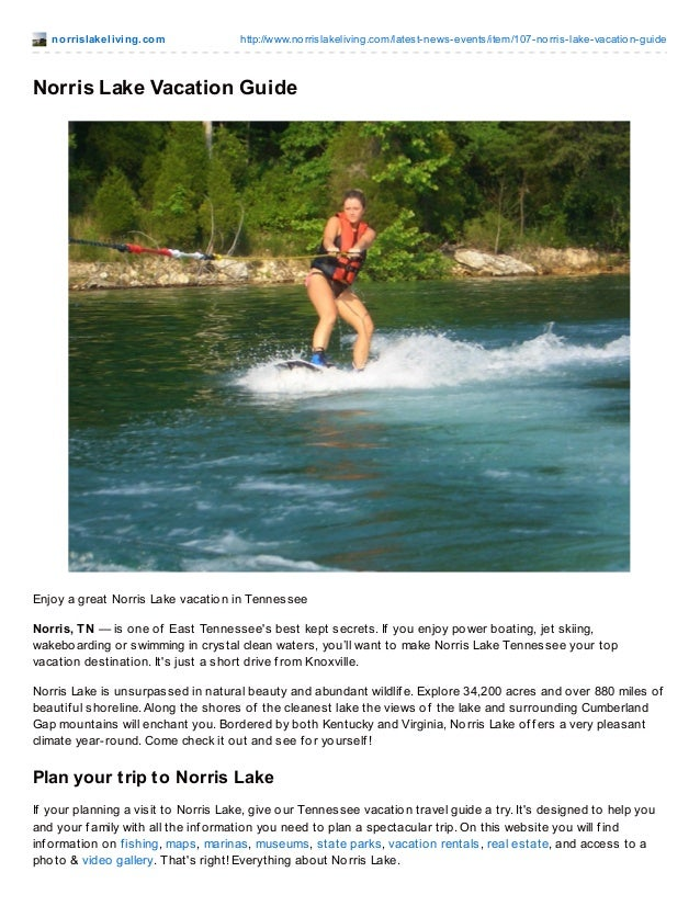 Norris Lake Tennessee Vacation Guide