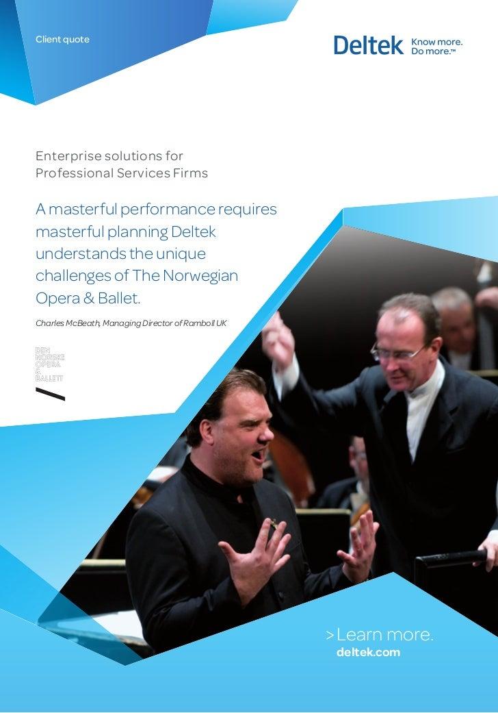 Customer Quote Norske Opera