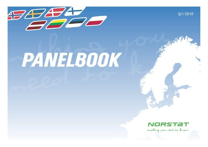 Norstat Panelbook January 2010