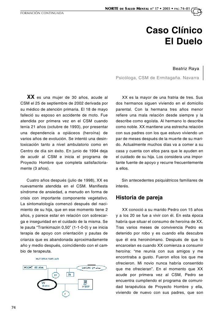 NORTE DE S ALUD MENTAL nº 17 • 2003 • PAG 74–81     FORMACIÓN CONTINUADA                                                  ...