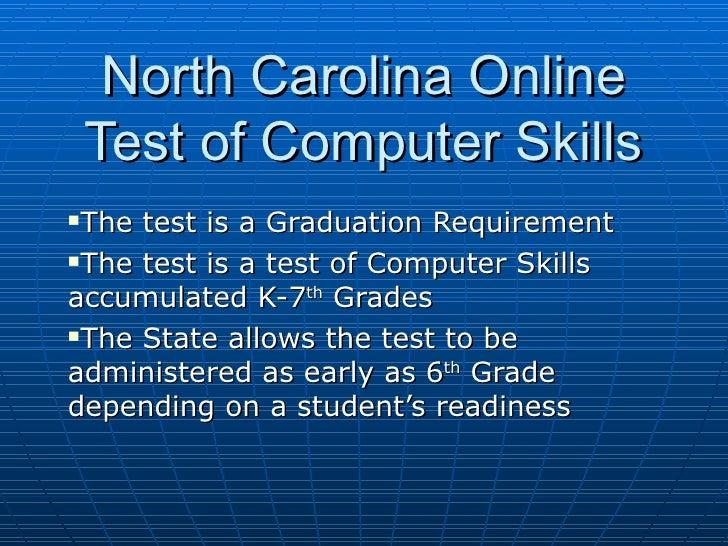 North Carolina Online Test Of Computer Skills