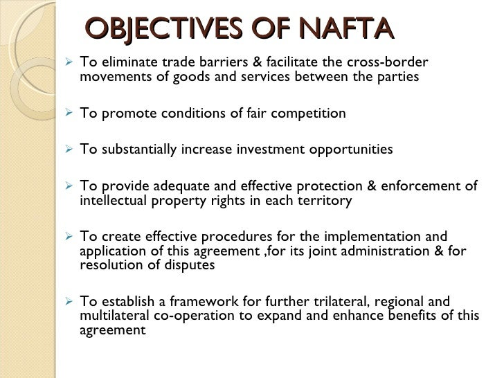 an analysis of the implementation of the north american trade agreement North american free trade agreement (nafta) established a free-trade zone in north america it was signed in 1992 by canada, mexico.