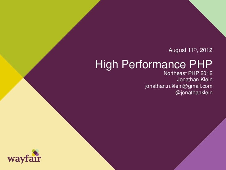 Northeast PHP - High Performance PHP