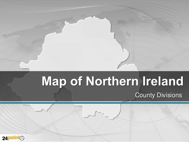 Northern Ireland - Editable PowerPoint Map