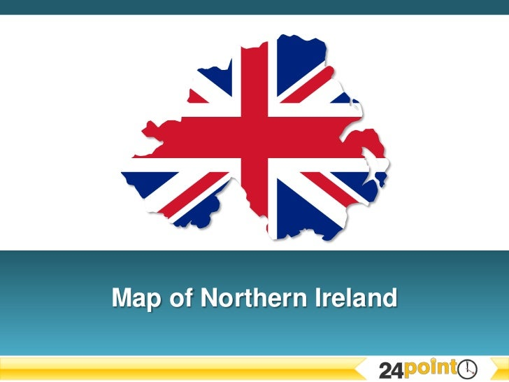 Editable PPT Map of Northern Ireland
