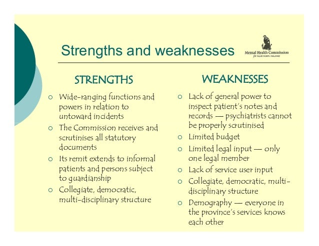 strengths and limitations of assessment A strengths and needs assessment is a tool used to identify available services and gaps in services and assess the level of knowledge, perceptions, and attitudes of a target population the assessment will help a school or consortia of schools collect information about existing.