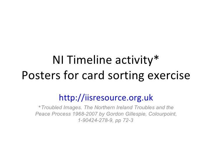 Northern ireland timeline activity