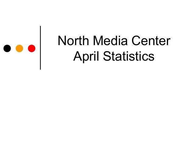 North Media Center  April Statistics