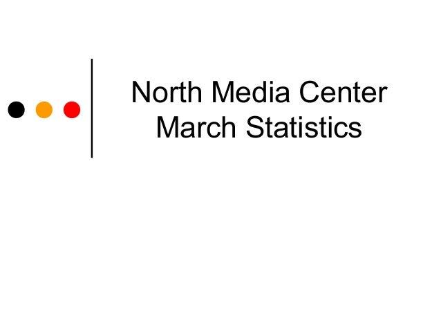 North Media Center March Statistics