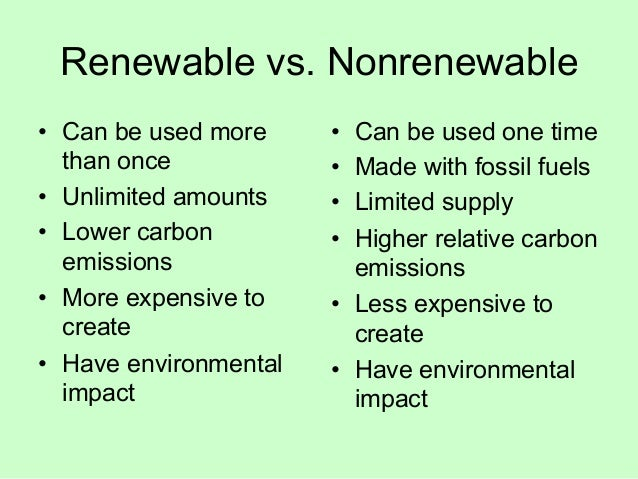 renewable and non renewable energy sources environmental sciences essay Read this essay on renewable energy proposal energy to change non renewable energy sources , are energy system 5 why should africa promote renewable energy 6 why should africa promote environmental energy efficiency 7 barriers to renewable energy development 7.