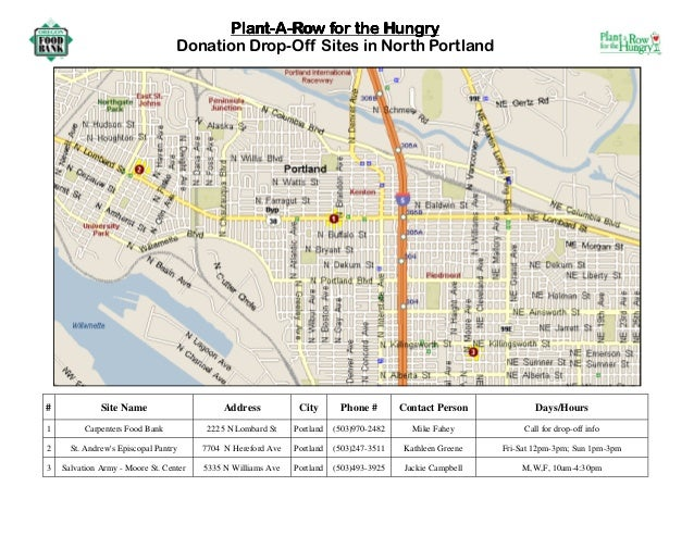 Plant a Row for the Hungry - North Portland, Oregon Food Bank