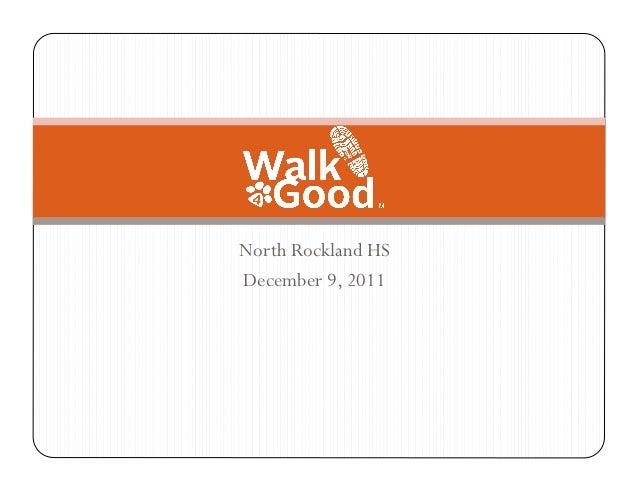 Walk4Good High School Presentation
